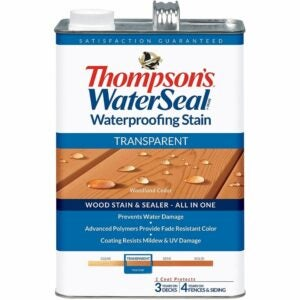 The Best Stain For Cedar Option: THOMPSONS WATERSEAL Transparent Waterproofing Stain
