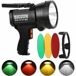 The Best Handheld Spotlight Option: BIGSUN Q953 10000mAh Rechargeable LED Spotlight