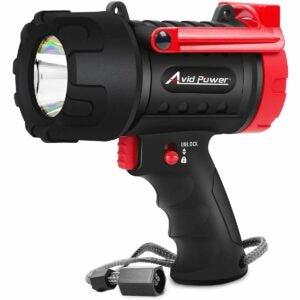 The Best Handheld Spotlight Option: Rechargeable Spotlight, IP67 Waterproof Flashlight
