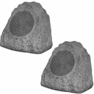 """最好的户外扬声器选项:剧院解决方案2R8G户外花岗岩8""""岩石"""