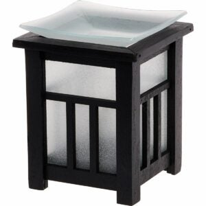 The Best Plugin Air Freshener Option: Mindful Design Frosted Pagoda Wax Warmer - Plug-In