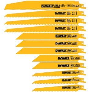 最好的Sawzall刀片选项:德沃特往复锯片,双金属套装