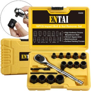 Best Screw Extractor Option: ENTAI Damaged Stripped Bolt & Nut Extractor Set