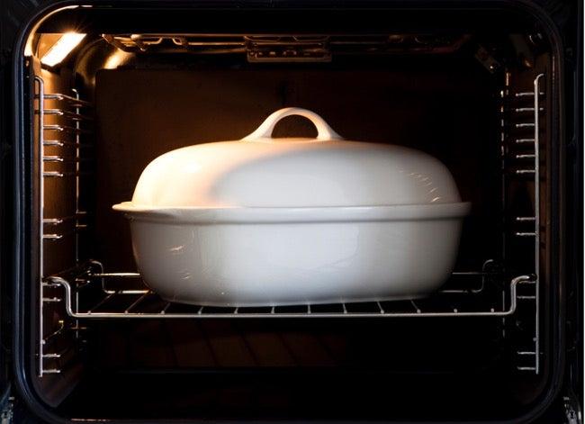 glass, metal, or ceramic bakeware