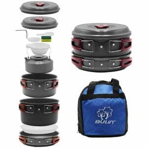 The Gifts for Outdoorsmen Option: Bulin Camping Cookware Mess Kit