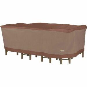 最好的主要日子家具优惠选项:鸭子覆盖矩形/椭圆形露台椅子