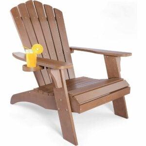 最佳素数家具优惠选项:Qoomotop Adirondack椅子带杯架