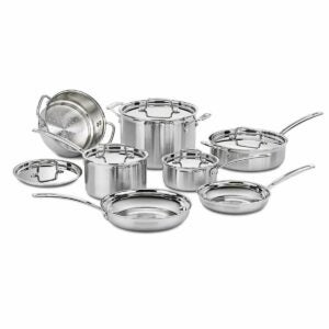 The Target Prime Day Option: Cuisinart Pro 12pc Stainless Steel Cookware Set