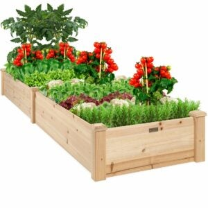 The Walmart Amazon Prime Day Deals Option: Best Choice Products Wooden Raised Garden Bed