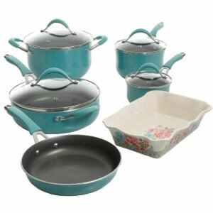 The Walmart Amazon Prime Day Deals Option: The Pioneer Woman 10-Piece Cookware Set