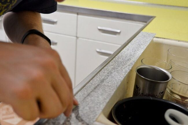 covering countertops with contact paper