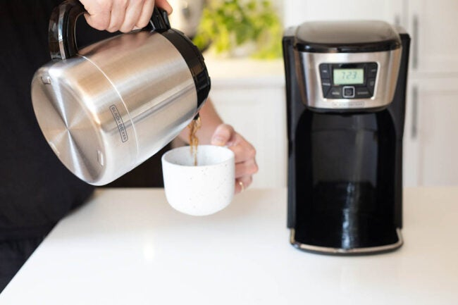 BLACK+DECKER Coffee Maker Hot Coffee After 7 Hours