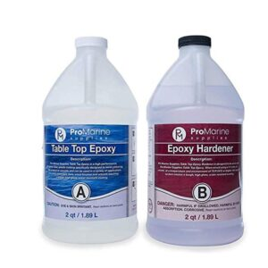 The Best Epoxy For Counterparts Option: Pro Marine Supplies Table Top Epoxy Resin