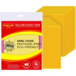 Best Gnat Trap Option: Faicuk 20-Pack Dual-Sided Yellow Sticky Traps