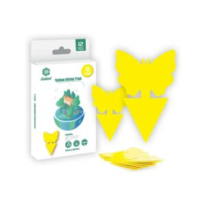 Best Gnat Trap Option: Gideal 12-Pack Dual-Sided Yellow Sticky Traps