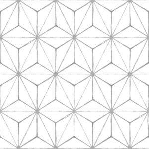 The Best Peel And Stick Floor Tile Option: FloorPops FP2481 Kikko Floor Decal White/Off-White