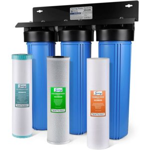 Best Whole House Water Filter Option: iSpring WGB32BM 3-Stage Whole House Water Filtration