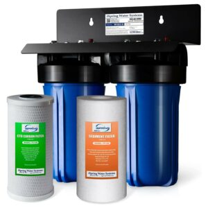 Best Whole House Water Filter Option: iSpring WGB21B 2-Stage Whole House Water Filtration