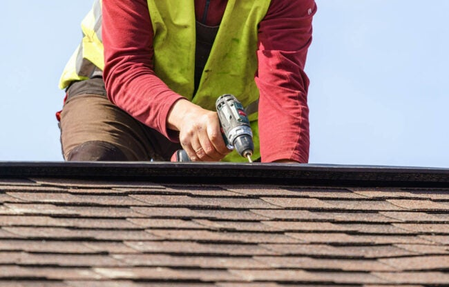 How to Fix a Sagging Roof Drill Holes