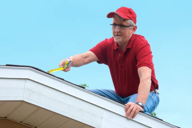 How to Fix a Sagging Roof Measure the Gap