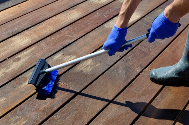 How to Restore a Weathered Deck Clean an Unfinished Deck