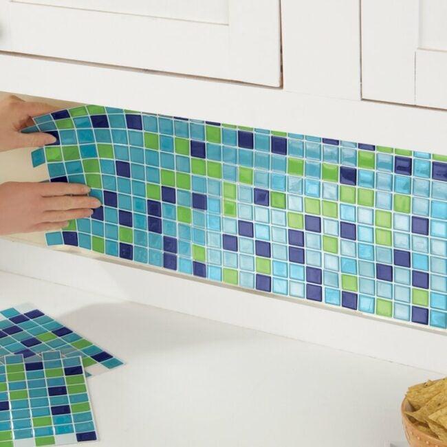 Installing Peel and Stick Tile backsplash