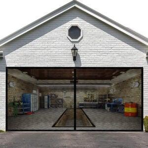 The Best Garage Door Screen Option: LIAMST Garage Screen Door for Double Garage Doors
