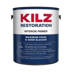The Best Primer for Kitchen Cabinet Option: KILZ Restoration Maximum Stain and Odor Blocking