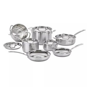 The Best Target Prime Day 2021 Deals Option: Cuisinart Pro 12pc Stainless Steel Cookware Set
