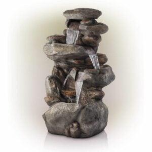 The Best Amazon Prime Day Deals Option: Alpine Corporation 4-Tier Rock Water Fountain