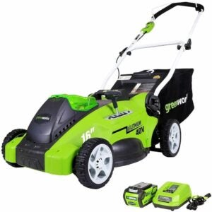 """The Best Amazon Prime Day Deals Option: Greenworks G-MAX 40V 16"""" Cordless Lawn Mower"""