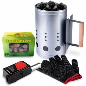 The Best Charcoal Chimney Option: HOMENOTE Rapid Charcoal Chimney Starter Set