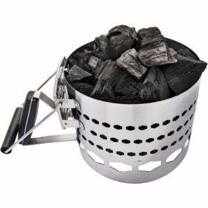 The Best Charcoal Chimney Option: Oklahoma Joe's 9848125R04 Half-Time Charcoal Starter