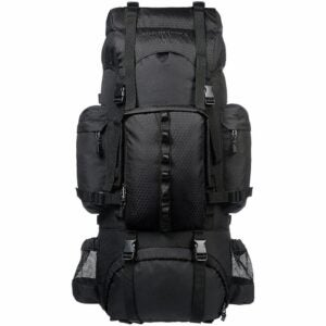 The Best Gifts for Campers Option: Amazon Basics Internal Frame Hiking Backpack