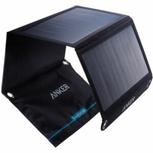 The Best Gifts for Campers Option: Anker 21W 2-Port USB Portable Solar Charger