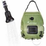 The Best Gifts for Campers Option: Sportneer Solar Shower Bag