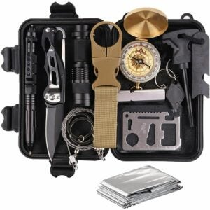 The Best Gifts for Campers Option: TRSCIND 13-in-1 Survival Gear Kit