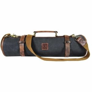 The Best Gifts For Cooks Option: Aaron Leather Goods Leather Knife Roll Storage Bag