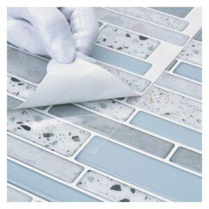 Peeling peel and stick tile