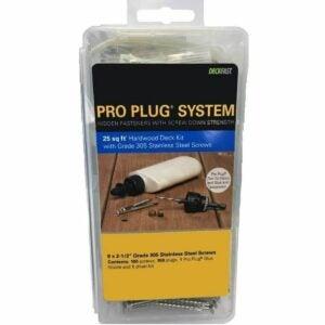 The Best Hidden Deck Fasteners Option: Starborn Pro Plug System Wood Deck Kit