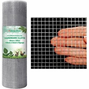 The Best Rabbit Repellent Option: Amagabeli 48x50 Hardware Cloth 1/2 Inch Chicken Wire