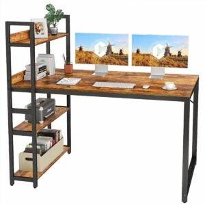 The Best 4th of July Sales Option: CubiCubi Computer Desk with Storage Shelves
