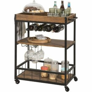 The Best 4th of July Sales Option: Haotian Rustic Bar Serving Cart