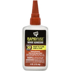 Best Glue for MDF Options: DAP 00157 4 oz Rapid Fuse Fast Curing Wood Adhesive