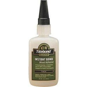 Best Glue for MDF Options: Titebond Instant Bond Wood Adhesive