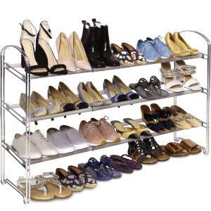 Best Shoes Organizer Options: Seville Classics 3-Tier Expandable 24-Pair Shoe Rack