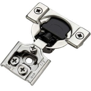 Best Soft Close Cabinet Hinges Option: Ravinte 50 Pack 25 Pairs 1 2 inch Overlay Soft Close Hinges