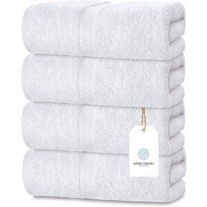 Best Towels on Amazon Options: Luxury White Bath Towels Large