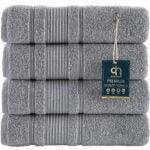 Best Towels on Amazon Options: Qute Home 4-Piece Bath Towels Set