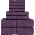 Best Towels on Amazon Options: Utopia Towels Plum Towel Set